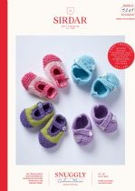 Sirdar Snuggly Baby Cashmere Merino DK Knitting Pattern - 5249 Shoes